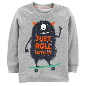 "Carter's Monster ""Just Roll With It"" Graphic Tee"